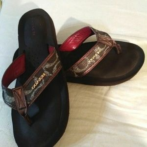 Coach 7.5B Judy Brown Sandals